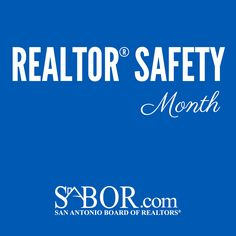 September is REALTOR Safety Month! Check back to sabor.com for updates on all the safety tips you should know! http://www.sabor.com/index.php/component/content/article/1446.html