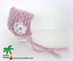 free crochet pattern for crochet baby bonnet Baby Bonnet Pattern, Crochet Baby Bonnet, Newborn Crochet, Crochet For Kids, Free Crochet, Knit Crochet, Crochet Hats, Blanket Crochet, Easy Crochet