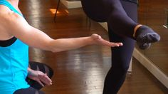 Tone your butt and legs with this ballet-inspired move! #ballet #barre #demo #exercise #fitness #video