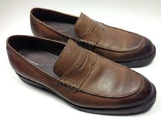 8d8e2612a5c Men s Rockport Penny Loafer casual dress shoes 11 M brown EUC Penny Loafers