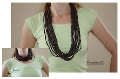 Craftaholics Anonymous® | T-Shirt Necklace Tutorial: 5 Variations