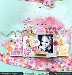 Hip Kit Club DT Project - 2018 June Hip Kits; Pretty Little Studio tags & die cuts; Pinkfresh Studio chipboard stickers & die cuts; Bella Blvd paper; Shimmerz Paints; Vicki Boutin stamps