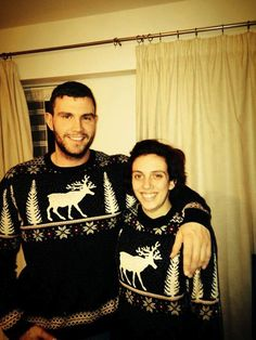 We love the matching his and hers Christmas jumpers Heidi Chilvers