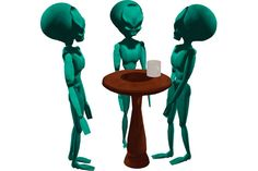 Fun Free Animated Alien Coffee Break with Sounds - Fun Freebie Stuff - Virtual Vagabond