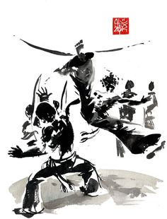 Capoeira illustration by alex-illustrateur