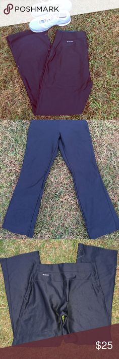 Columbia Omni Wick Black Fleece Lined Flares These are so comfortable! Great pick for a snow day or an outdoor workout.  Gently used, worn maybe twice Columbia Pants Boot Cut & Flare