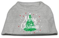 Scribbled Merry Christmas Screenprint Shirts Grey L (14)