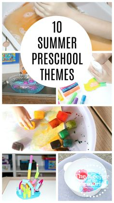 Here are Summer Preschool Monthly Themes that will for sure wow your little kids! Explore famous artists, pretend to be scientists, and even visit the zoo! You're definitely not going to want to miss these fun preschool craft & activity ideas! Preschool Monthly Themes, Preschool Craft Activities, Summer Preschool Activities, Sensory Activities Toddlers, Science For Kids, Toddler Preschool, Preschool Education, Preschool Worksheets, Diy Crafts For Kids Easy
