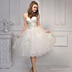 Lace Short Wedding Dresses - Dress FA