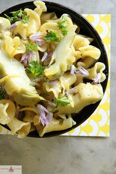 Artichoke Pasta with Butter, Lemon and Garlic