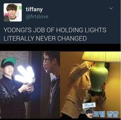 Yoongi as the light director