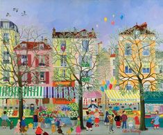Oil Paintings by French Naive Artist Cellia Saubry
