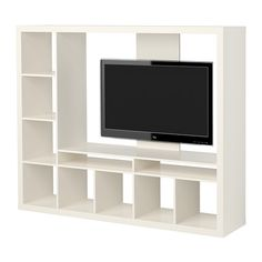 EXPEDIT TV-Möbel IKEA Anordnung des Regals nach Wunsch und Bedarf rechts oder links. Verstärkte Rückwand für Flachbildfernseher.