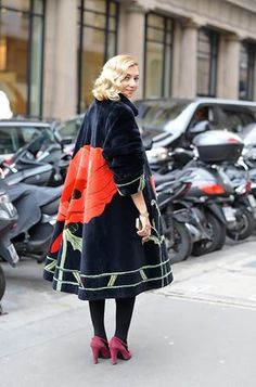 ♥ Street style at Paris Haute Couture Week Spring/Summer 2014 Fashion Mode, Look Fashion, Winter Fashion, Fashion Design, Fashion Trends, Street Fashion, Couture Fashion, Paris Fashion, Hippie Fashion
