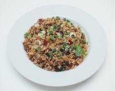 Stekt ris og linser med smaker fra Midtøsten