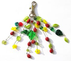 LADYBUGS XXVII  KEYCHAIN by woodfairy on Etsy, $10.00
