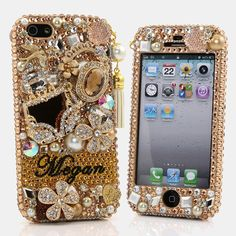 Style # PN_1056 Bling Cases, Personalized Name Custom Made crystals Golden Purse design case for iphone 5, iphone 5s, iphone 6, Samsung Galaxy S4, S5, Note 2, Note 3, LG, HTC, Sony – LuxAddiction.com