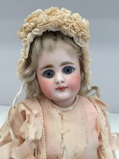 "Super Rare Antique Simon Halbig 939 Bisque Doll 9"" Cabinet Size All Original Wow 