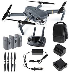 Drone World DJI Mavic PRO FLY MORE COMBO: Foldable Quadco...