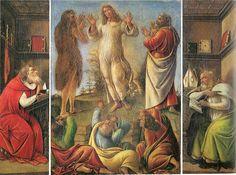 Sandro Botticelli - Trasfigurazione di Cristo con sant'Agostino e san Gerolamo  - 1500 ca - Galleria Pallavicini - Palazzo Rospigliosi Pallavicini, Roma