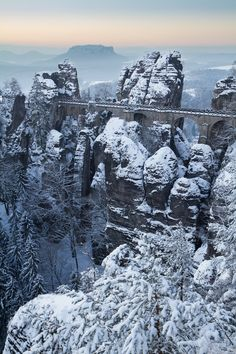 Leave the urban hustle and bustle of Prague behind for the day and immerse yourself in Central Europe's underrated nature on a guided winter-time day trip to Bohemian and Saxon Switzerland