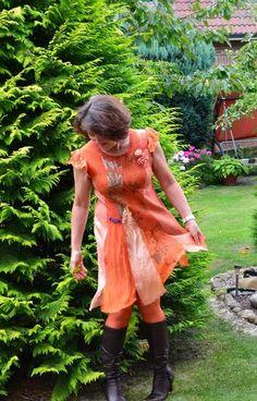 Feine+gefilzte+Tunika+aus+Merinowolle+und+Seide+von++Kuschelfilz+#+Art+Textil+++auf+DaWanda.com