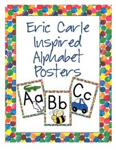 Eric Carle Inspired Alphabet Posters