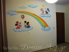 Ζωγραφική βρεφικού δωματίου με το Μίκυ Μάους