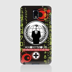 URI ART: AN0NYMOUS Hardcase for Samsung Galaxy Note 3