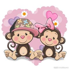 Find Two Cute Cartoon Bears on a background of heart Stock Images in HD and millions of other royalty-free stock photos, illustrations, and vectors in the Shutterstock collection. Cartoon Monkey, Cute Cartoon Animals, Cartoon Pics, Monkey Girl, Cute Monkey, Monkey Wallpaper, Kids Cartoon Characters, Blue Nose Friends, Baby Girl Pictures