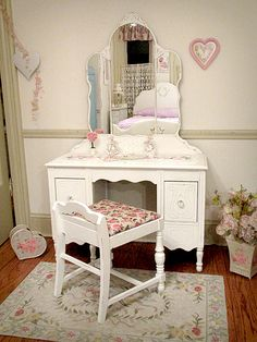 young girl's vanity & matching low back seat