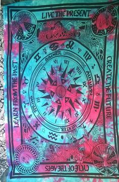 Hippie Gypsy Wall Hanging New Age Dorm Tapestry Poster Size 40x30 Mandala Wall Hanging Art Cotton Gypsy DOORGA Exclusive Turquoise Boho Tree of Life Tapestry by Tie and Dye Blue Dorm Tapestry