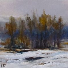 Original OIL Painting by CES  Canada Winter by PaintingsbyCES