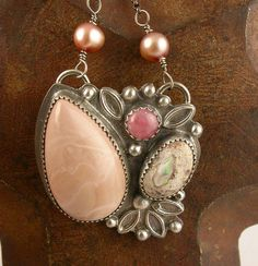 Blush Pink Multistone Necklace by Simply_Adorning, via Flickr