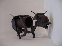 The Bull Iron mini Sculpture by Kim Prisu #Art #Artist at Betsy Frank Gallery