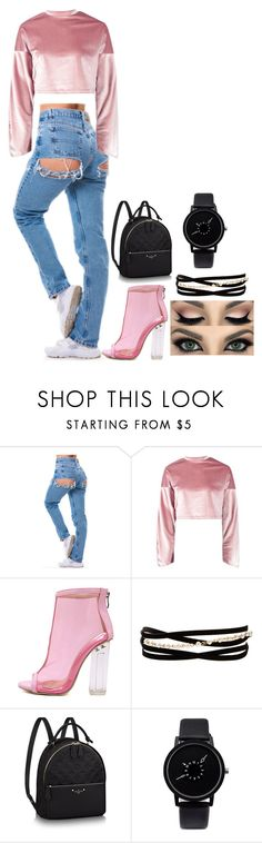 """He's only calling cause he's drunk and alone"" by itsadri-lxv on Polyvore featuring Boohoo, WithChic and Kenneth Jay Lane"