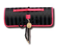 Victoria's Secret Limited Edition Black Roll-Up Makeup Bag Zip Around Wallet, Victoria's Secret, Makeup, Bags, Fashion, Make Up, Handbags, Moda, Fashion Styles