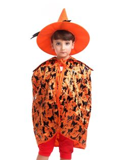 amazoncom magic town kids halloween festival cosplay witch hat and cloak