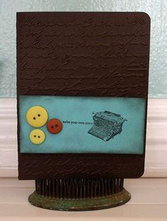 Write your own story by @Rebecca Rivalto Gonzalez #card #cardidea #homemade #stamping #buttons