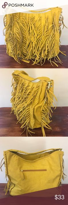 "NWOT✨Fringe Mustard yellow Large shoulder bag Thank you very much for looking!! ◆◇◆◇◆◇◆◇◆◇◆◇◆◇◆◇◆◇◆  Large capacity bag:)  ★Brand/Big Buddha  ★Condition/New without Tags  ★Size/14.5""×14""  ★Color/Mustard  ★Weight/1lb 2oz  ★Smoke free home  ◆◇◆◇◆◇◆◇◆◇◆◇◆◇◆◇◆◇◆◇ Be sure to check out my other listings!! Big Buddha Bags Shoulder Bags"