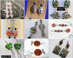 Heres to handmade one-of-a-kind earrings from Jewelry by Scotti!  www.etsy.com/shop/JewelryByScotti