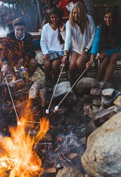 Summer memories: Smores and camp fires