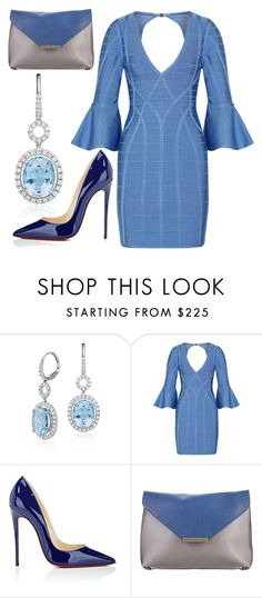 """""""Untitled #820"""" by clothyoulike ❤ liked on Polyvore featuring Blue Nile, Hervé Léger, Christian Louboutin and Emilio Pucci"""
