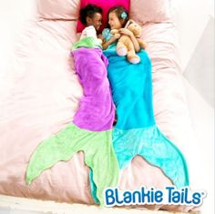 Valentine's Gift Idea for the Kids! A Child sized mermaid tail or shark blanket with his or her embroidered name or monogram.