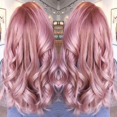 """""""@meredithabloom submitted this Easter Pink for our #modernsalon color contest and we LOVE IT! She used Schwarzkopf Essensity: 1 part 5-889 with 3 parts…"""""""