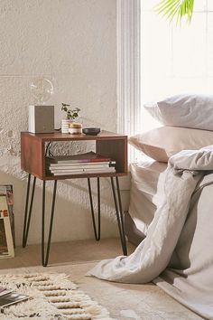 Finley Nightstand - Urban Outfitters  For the bedroom, dos porfavor!