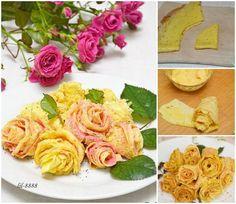 How to DIY Beautiful Pancake Rose Recipe | www.FabArtDIY.com