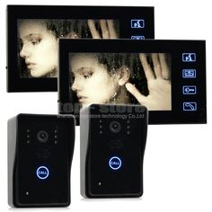 """227.98$  Buy now - http://aliqrd.shopchina.info/go.php?t=32505184305 - """"DIYSECUR Wholesale Quality 7"""""""" Color LCD Door Phone Doorbell Intercom Touch Key 2 IR Cameras 2 Monitors SY806MJ22""""  #buyonline"""