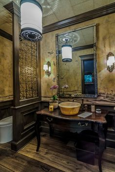 Eclectic Powder Room by Artisan Inc.