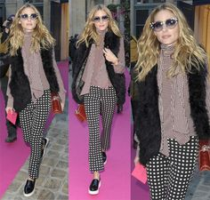 Olivia Palermo at the Schiaparelli show, Haute Couture, at Paris Fashion Week in France on January 25, 2016